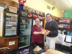 Jack Kasich, owner of the Robert Treat Deli in Westfield, NJ donates bread for urban House Church ministry.