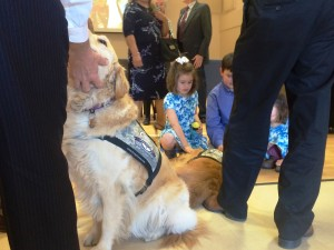Comfort dogs from Lutheran Church Charities were also a blessing to the children attending the repast.